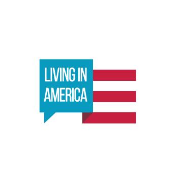 Living in America Logo